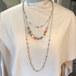 Three Layered Necklace by Rachel Blue Coral Beads